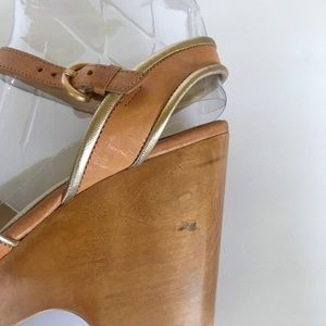 Coach Shoes - COACH Nikkie Wedge Wood Heel 7.5